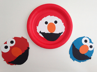 CraftyGoat's Notes: A few of the monsters created during our Elmo party activity