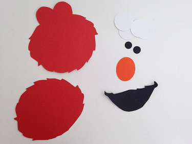 CraftyGoat's Notes: Cutting shapes for an Elmo-themed party
