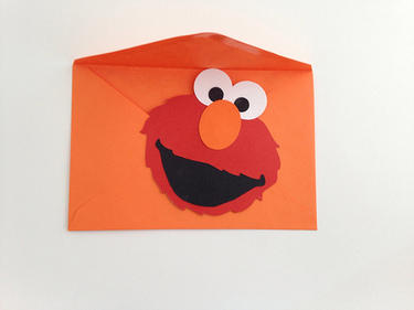 CraftyGoat's Notes: Elmo birthday party invitation cut using Silhouette Cameo