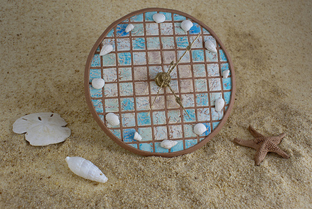 Beach Themed Clock with Custom Photo Backdrop